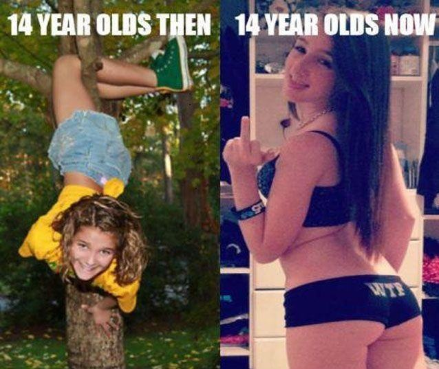 12 Year Olds Then And Now