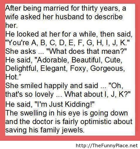 Being married funny