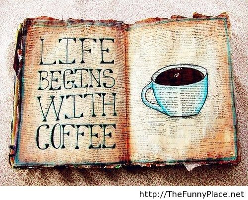 Coffee awesome quote with wallpaper