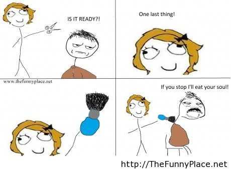 Derpina At The Hairdresser Thefunnyplace