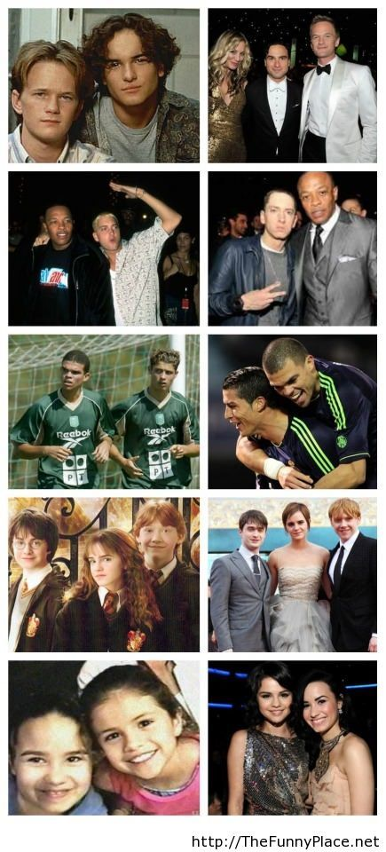 Famous friendships then and now