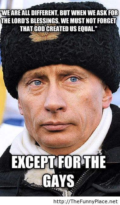 Funny Putin message