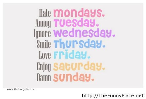 Funny days of a week