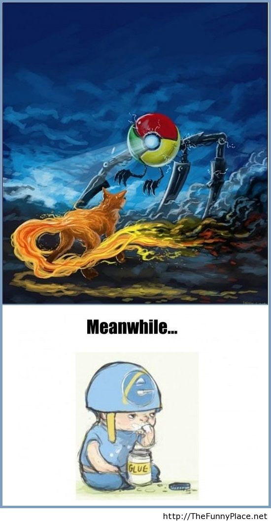 Funny fight between browsers