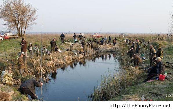 Funny fishing image
