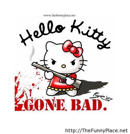 Funny hello kitty