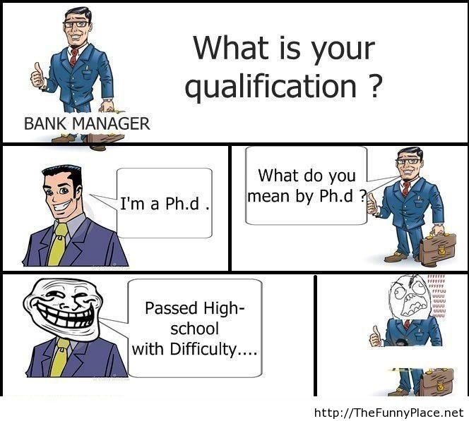 Funny job calification