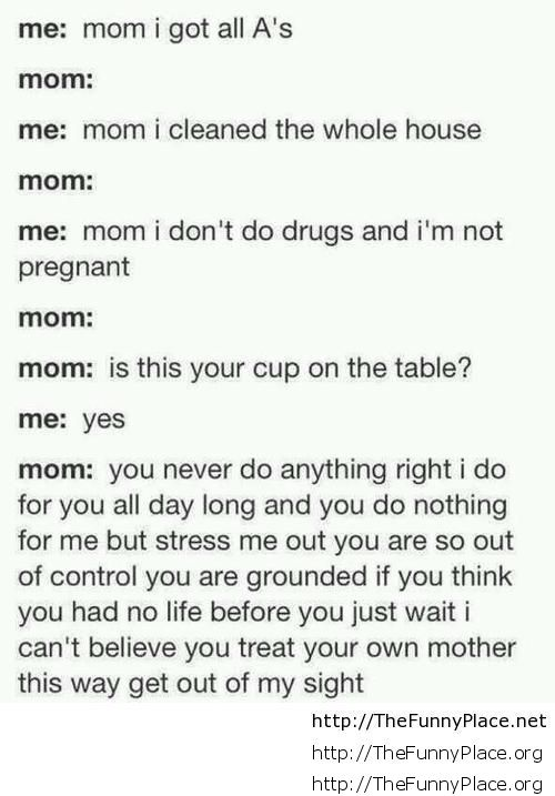 Funny mom conversation