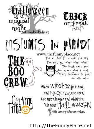 Halloween quote 2013