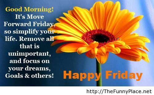 Happy friday quote with image