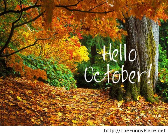 Hello october with wallpaper