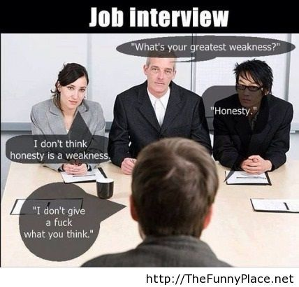 Job interview moments