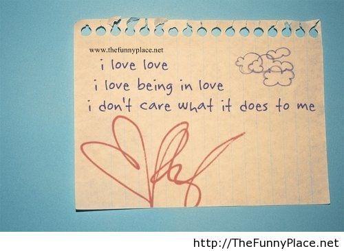 Love card saying