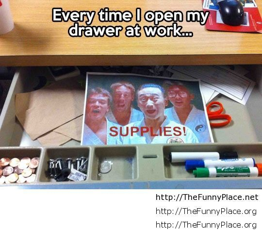 Open my drawer at work