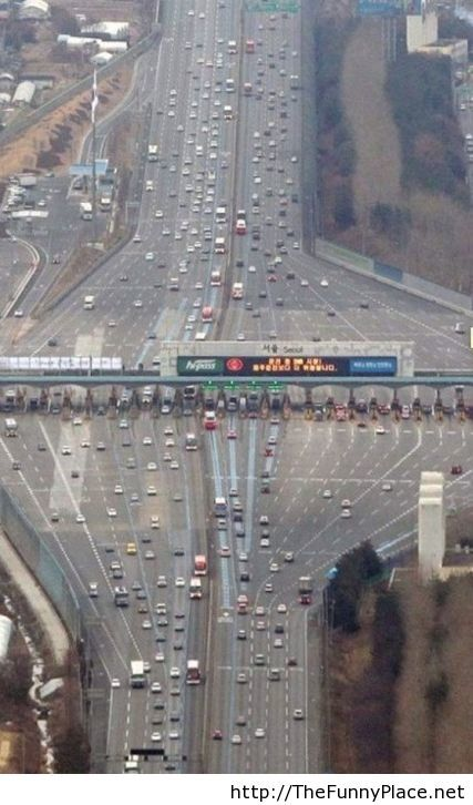 Optical illusion of a highway