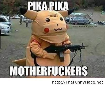 Pikachu is hardcore