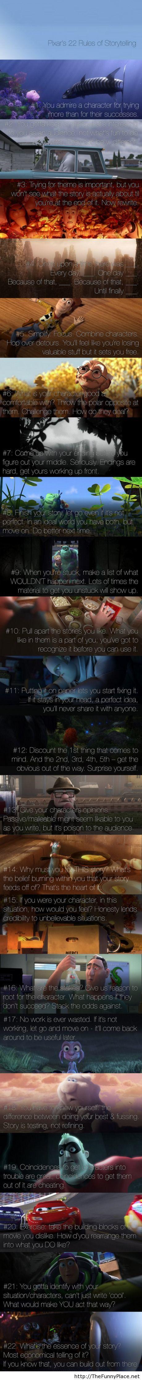 Pixar s 22 Rules of Storytelling