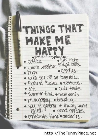 Things that me me happy