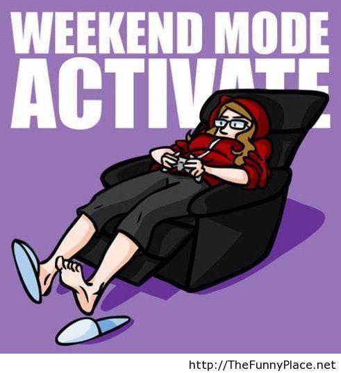 Weekend funny wallpaper