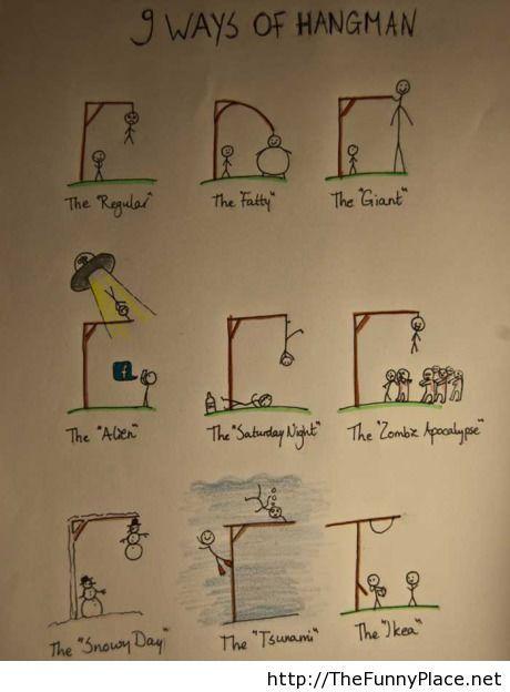 9 ways to hangman