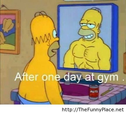 After one day at gym