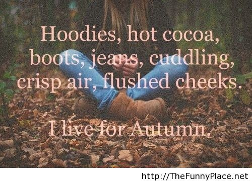 Autumn 2013 saying