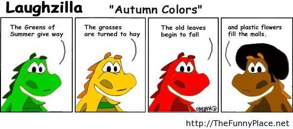 Autumn colors joke