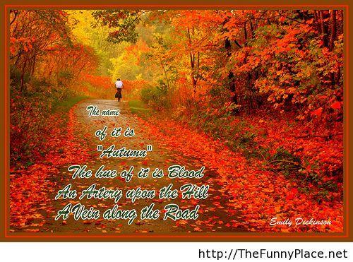 Autumn - Emily Dickinson
