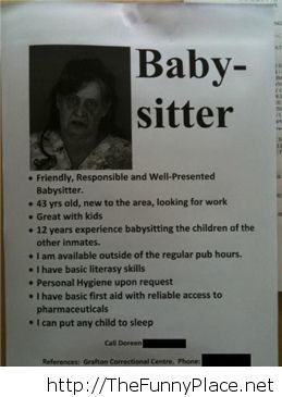 Baby sistter searching