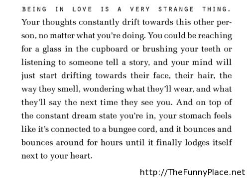 Being in love poem