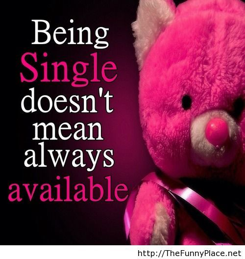 Being single quotes with teddy bear