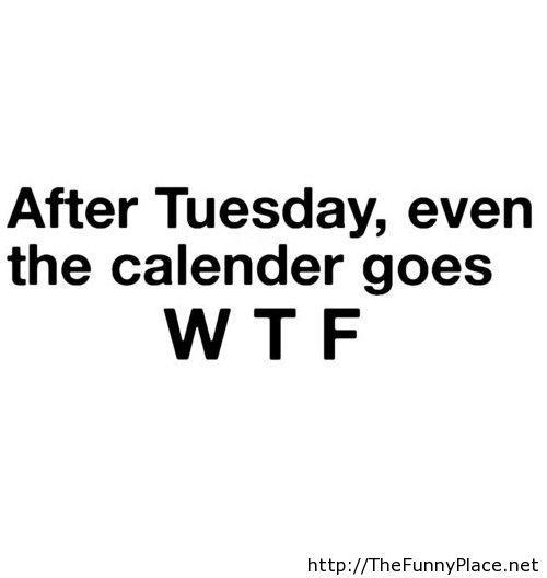 Calendar goes WTF