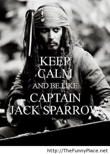 Captain Jack Sparrow wallpaper with keep calm