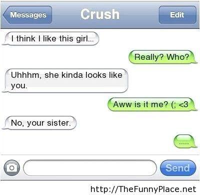 Crush funny conversation