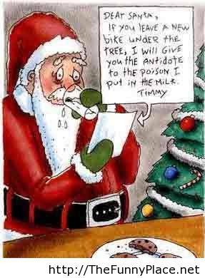 Dear santa letter funny