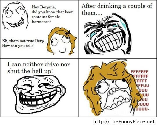 Derpina rage comic joke