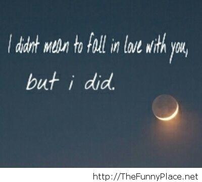 Fall in love saying