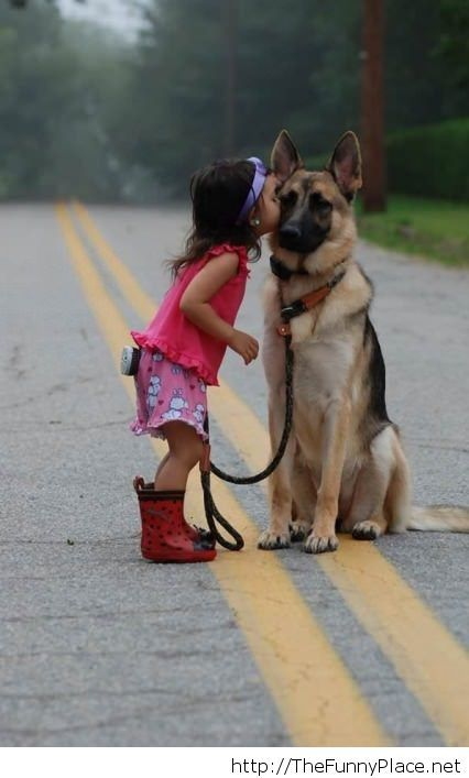 Friends forever awesome picture with a dog