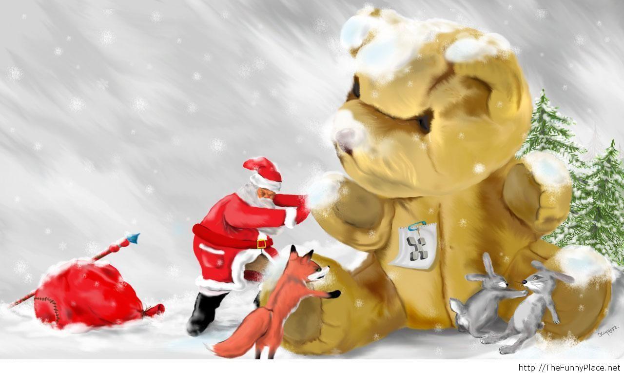 Funny Christmas image wallpaper HD