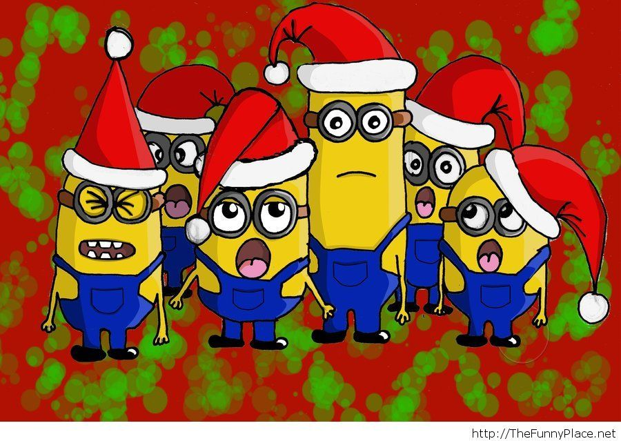 Funny Christmas minions picture