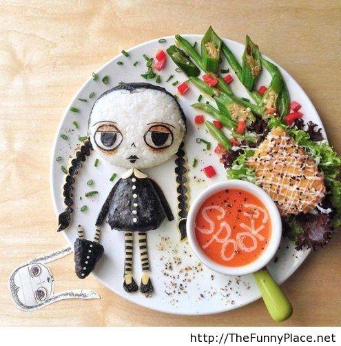 Funny Halloween cupcake