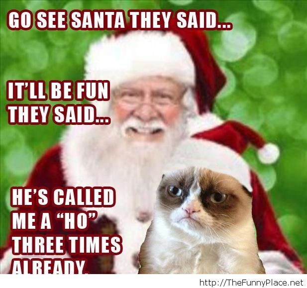 Funny Santa picture and saying
