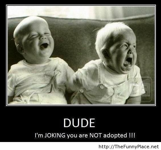 Funny baby joke picture