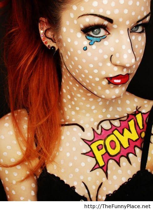 Funny comic makeup