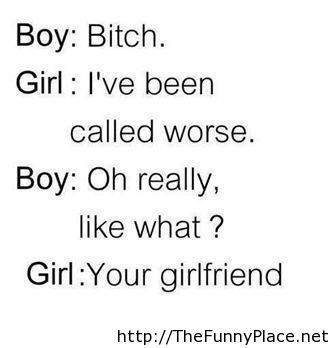 Funny conversation between a boy and a girl