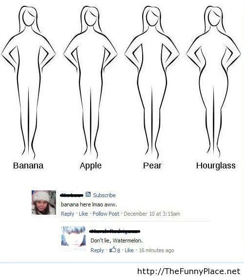 Funny female body types
