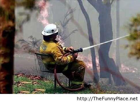 Funny fireman image