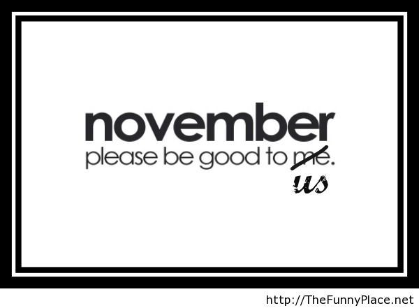 Funny hello november wallpaper