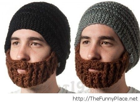 Funny idea for winter beard