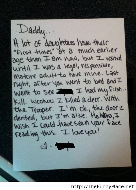 Funny letter for my dad